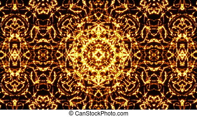 Looping kaleidoscope sequence. Abstract motion graphics...