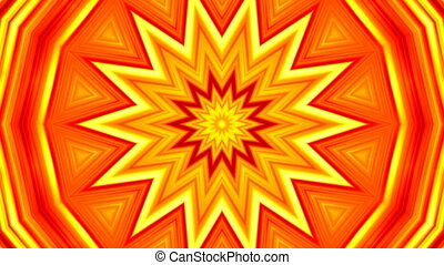 Looping sequence of yellow-red star pulsation. Abstract...