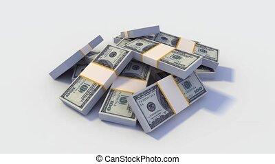 Looping Stack of Dollar Bills.