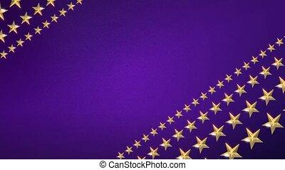 Looping Stars on Royal Purple HD