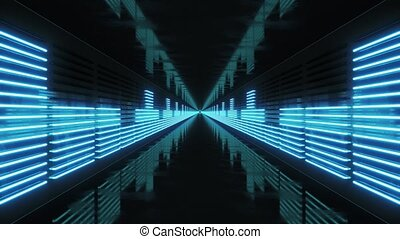 Looping Tunnel with Neon Equalizer 4k