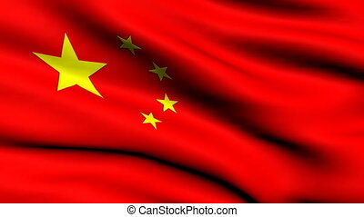 looping, vlag, china, achtergrond