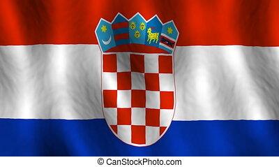 looping, vlag, kroatië, achtergrond