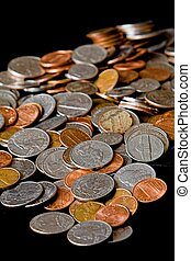 loose american currency coins