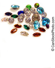 Loose Gems - , a pile of loose gems over white