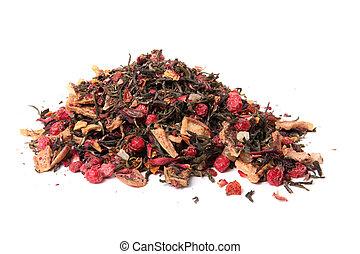 Loose orange blossom tea - Pile of dried loose berry blossom...