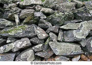 Loose stone wall