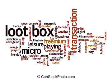 Loot box word cloud concept