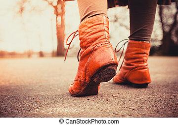 lopend in het park