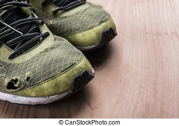 lopende schoenen, en, geschiktheidsmateriaal