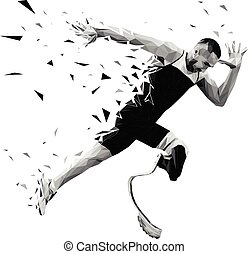 loper, start, atleet, explosief