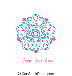 loral background with space for text