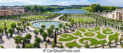 L'Orangerie garden in Versailles. Paris, France -...