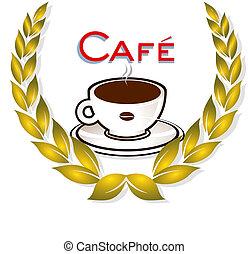 lorbeer, bohnenkaffee, kranz