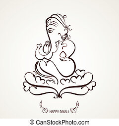 lord ganesh - beautiful indian god ganesh illustration