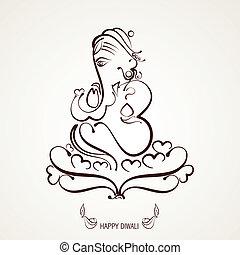 beautiful indian god ganesh illustration