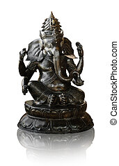 Ganesha Hinduism Buddha isolated on white background