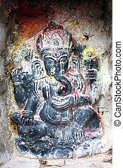 Lord Ganesha in Kathmandu during festival