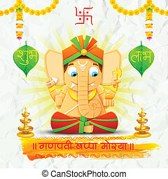 Lord Ganesha made of paper for Ganesh Chaturthi -...