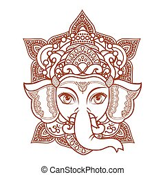 Lord Ganesha. Vector illustration of colorful Happy Lord Ganesh for Ganpati Chaturthi.