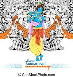 Lord Krishana in Happy Janmashtami