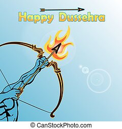 Lord Rama arm with bow arrow.Happy Dussehra