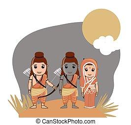 lord, rama, lakshman, sita