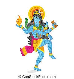 Lord Shiva - easy to edit vector illustration of Lord Shiva