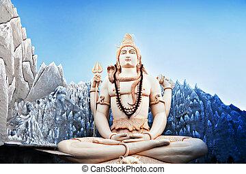 Lord Shiva Statue - BANGALORE, INDIA - MARCH 27: Big Lord...