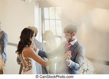 loro, ballo, giorno, matrimonio