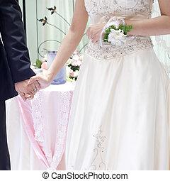 loro, coppia, giovane, giorno, matrimonio
