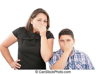 loro, mantello, secondo, cattivo, naso, odore