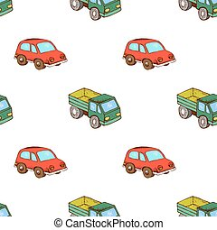 Lorry and car toy pattern seamless