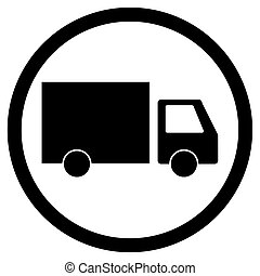 Lorry delivery icon. Truck transportation, cargo transport ...