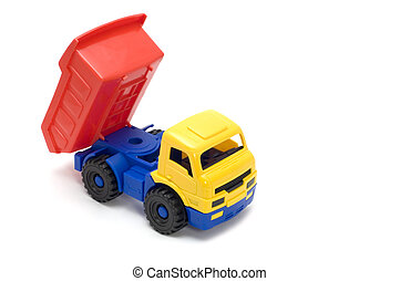 lorry - series object on white - toy truck