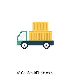 lorry flat icon