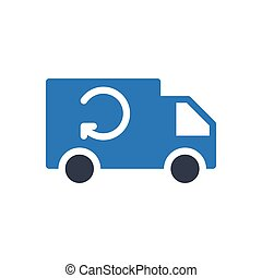 lorry glyph color icon