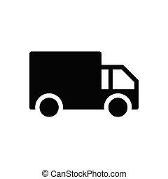 lorry glyph flat icon