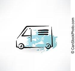lorry grunge icon