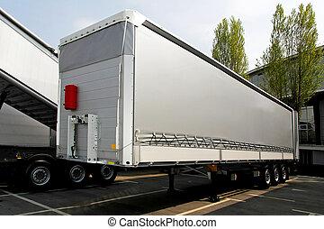 lorry, släpvagn