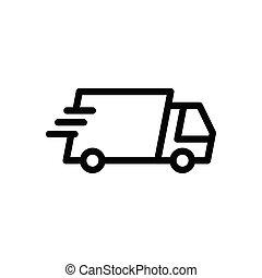 lorry thin line icon