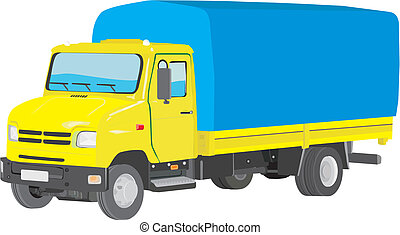 Lorry - Perfectly executed vector image of a small truck for...