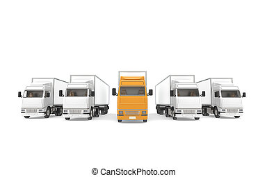 Lorrys. Part of Warehouse and Logistics Series.