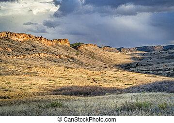 lory, colorado, norte, parque, foothills, estado