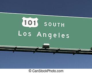 Los Angeles 101 Freeway Sign
