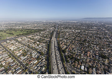 Los Angeles 405 Freeway Aerial