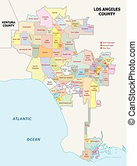 los angeles administrative map