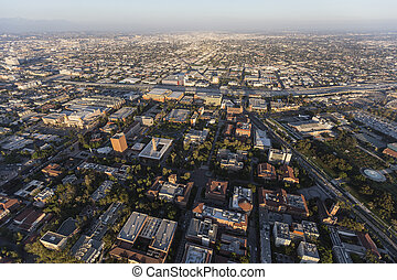 Los Angeles Aerial View USC Area