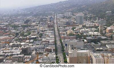 Beautiful aerials of Los Angeles and surrounding neighborhood