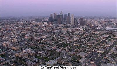 Beautiful smooth Aerials of Los Angeles and surrounding neighborhood.